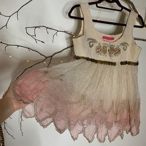 Manoush tank pink and ivory with embellished sz38